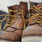 Photo of empty work boots illustrating article on amount of unemployment benefits