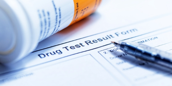photo of drug test form for unemployment benefits
